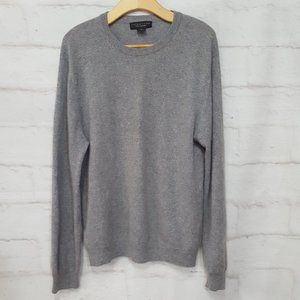 Bloomingdale's 100% Cashmere Men's Grey Sweater XL